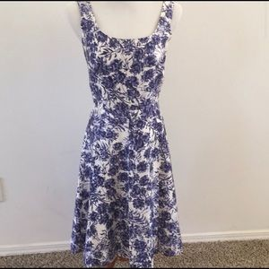 Ann Taylor Floral Fit and Flare Dress